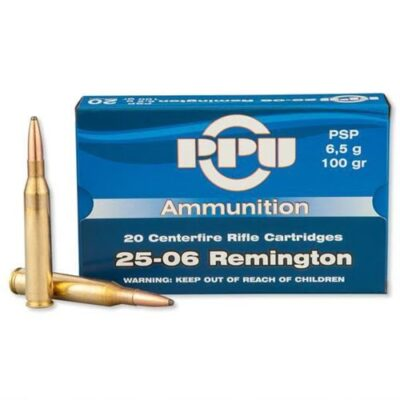 Prvi Partizan 25-06 Remington Ammo 100 Grain Pointed Soft Point
