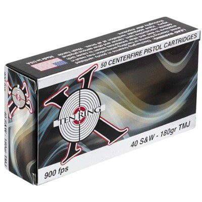 Ten Ring 40 S&W 180gr FMJ 50/bx (50 rounds per box)