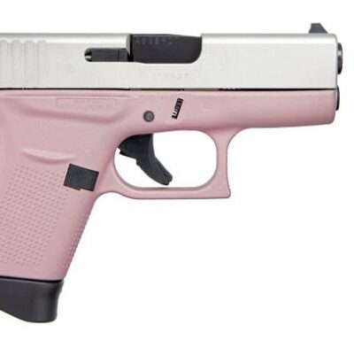 "GLOCK, G43, SAFE ACTION, 9MM, 3.39"" BARREL, 6+1 ROUND, CERAKOTE PINK FINISH"