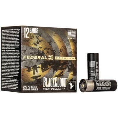 """Federal Black Cloud FS Steel High Velocity 12 Gauge Ammunition 3"""" #3 1-1/8 Oz Steel Shot 1635 fps"""