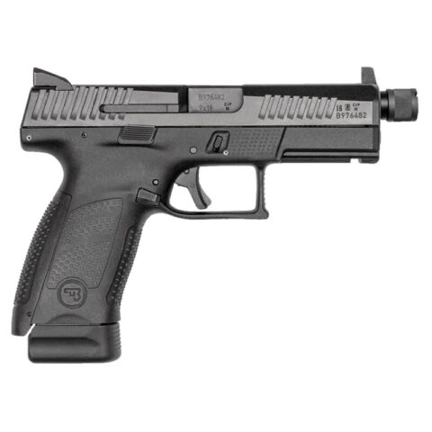 "CZ P-10 C Suppressor-Ready 9mm Semi Auto Pistol 4.61"" Barrel 17 Rounds High Night Sights Matte Black Finish"