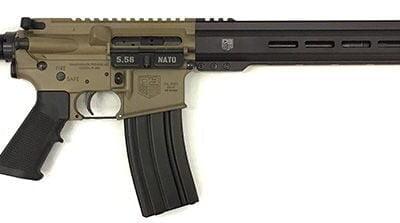 Diamondback DB15 5.56 AR-15 Rifle, 16″ Barrel, FDE Upper & Lower Receiver, Black 15″ M-Lok Rail, 30-RD, Duo-Tone – Diamondback DB15YPFDE