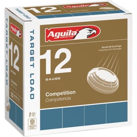 "Aguila Competition Target 12 Gauge Ammunition 25 Rounds 2-3/4"" Shell #8 Lead Shot 1-1/8oz 1250fps"