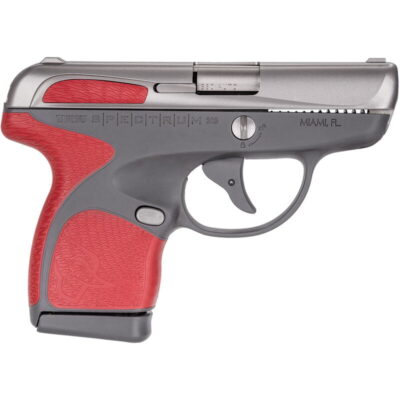 """Taurus Spectrum .380 ACP Semi Auto Pistol 2.8"""" Barrel 6 Rounds Gray Polymer Frame with Red Inserts Stainless Finish"""