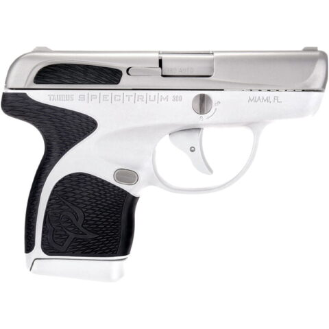 """Taurus Spectrum .380 ACP Semi Auto Pistol 2.8"""" Barrel 6 Rounds White Polymer Frame with Black Inserts Stainless Finish"""