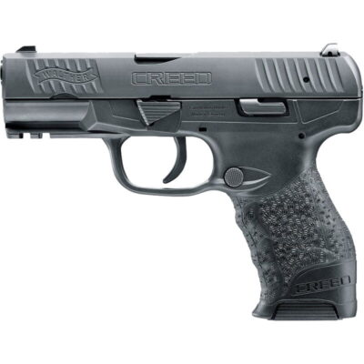 """Walther Creed 9mm Luger Semi Auto Pistol 4"""" Barrel 16 Rounds Low Profile 3-Dot Sights Polymer Frame Black Finish"""
