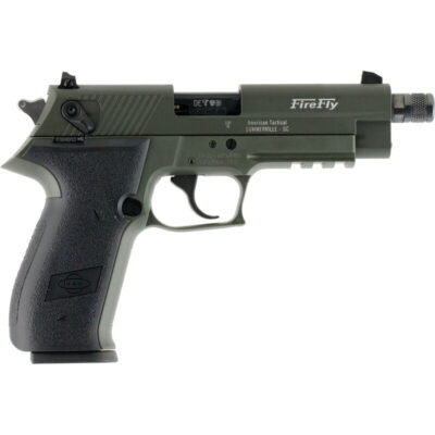 "GSG Firefly .22 LR Semi Auto Pistol 10 Rounds 4"" Threaded Barrel Polymer Frame OD Green"