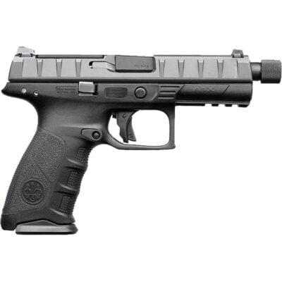 "Beretta APX Combat 9mm Luger Semi Auto Pistol 4.9"" Threaded Barrel 10 Rounds Integral Red Dot Optic Mount Polymer Frame Black"