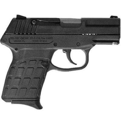 "Kel-Tec PF-9 Semi Auto Handgun 9mm Luger 3.1"" Barrel 7 Rounds Fixed Sights Black Polymer Grips Blued Slide PF-9"