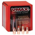 "Hornady .270-6.8mm Caliber .277"" Diameter 110 Grain V-Max Polymer Tip Boat Tail with Cannelure Projectile 100 Per Box 22721"