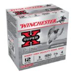 Winchester 12 Gauge Ammunition 25 Rounds 3.00″ #4 Steel Shot 1.125 oz.