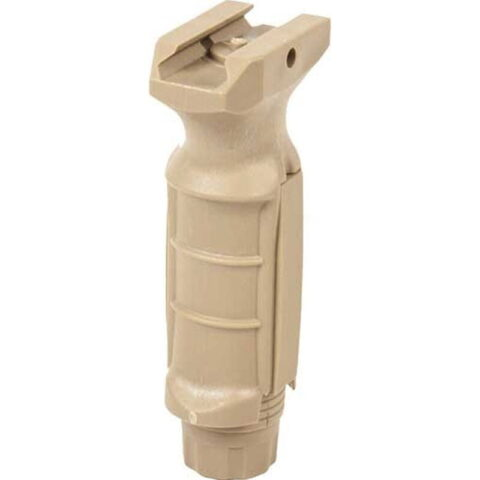 JE Machine Ergonomic Ambidextrous Vertical Grip with storage compartment Tan