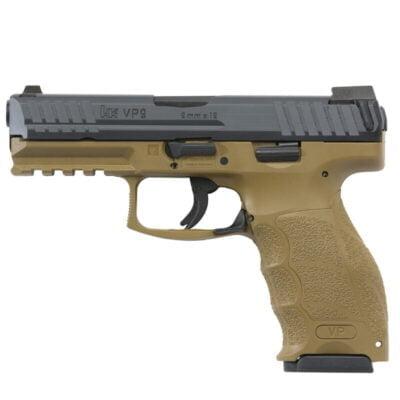 "H&K VP FDE Semi Auto Pistol 9mm Luger 4.09"" Barrel 10 Rounds Polymer Frame Flat Dark Earth"