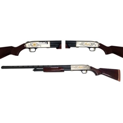 "Mossberg 500 Cenntenial Edition 12 Ga, 28"" VR Barrel, Walnut Stock, 1 of 750 TALO Edition"