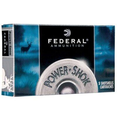 """Federal Power-Shok12 Gauge Ammunition 5 Rounds 2.75"""" 1oz.1,610 Feet Per Second"""