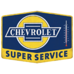 Open Road Brands Chevrolet Super Service Tin Thermometer Sign
