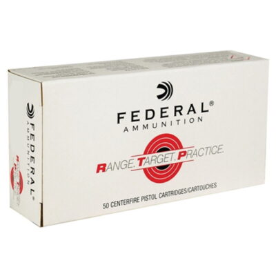 Federal Range Target Practice .45 ACP Ammunition 50 Rounds 230 Grain Full Metal Jacket 830fps