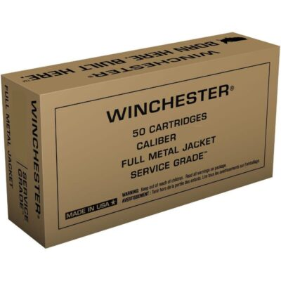 Winchester Service Grade .380 ACP Ammunition 50 Rounds 95 Grain Full Metal Jacket