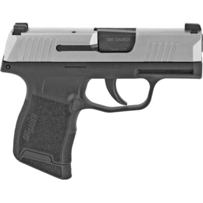 "SIG Sauer P365 9mm Luger Semi Auto Pistol 3.1"" Barrel 10 Rounds Night Sites Polymer Grip Frame Stainless/Black Finish"