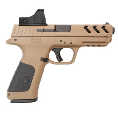 "EAA GiRSAN MC28 SA-T 9mm Luger Semi Auto Pistol 4.25"" Barrel 15 Rounds Red Dot Optic Polymer Frame Flat Dark Earth Finish"
