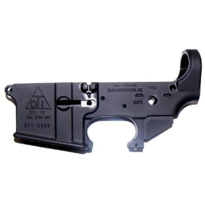 Del-Ton AR-15 Stripped Lower Receiver Aluminum Black LR100