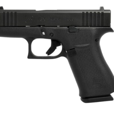 "Glock G43X 9mm, 3.41"", Black, 10rd, Fixed Sights"