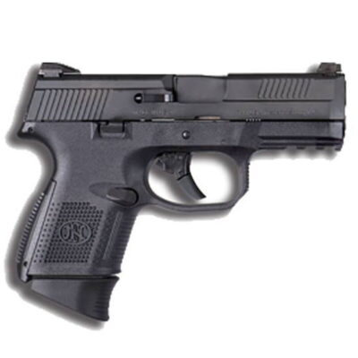 "FN FNS-9 Compact Semi Auto Pistol 9mm Luger 3.6"" Barrel 17 Rounds No Manual Safety Night Sights Polymer Frame Black Finish 66720"