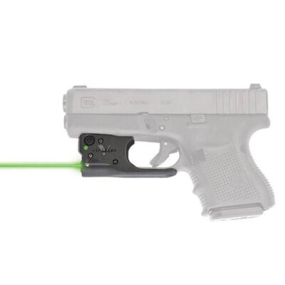 Viridian Reactor 5 Gen 2 Green Laser Sight with ECR GLOCK 19/23/26/27 with Ambidextrous IWB Instant-On Holster Polymer Housing Matte Black Finish