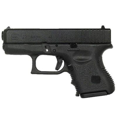 "GLOCK 27 Gen 3 .40 S&W Semi Auto Pistol, 3.42"" Barrel 9 Rounds, Black"
