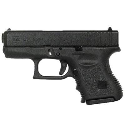 """GLOCK 27 Gen 3 .40 S&W Semi Auto Pistol, 3.42"""" Barrel 9 Rounds, Black"""
