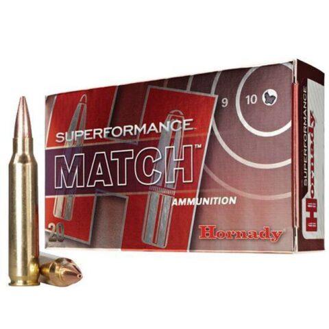 Hornady 5.56 NATO Superformance Match Ammunition 75 Grain BTHP 20 Rounds 81264