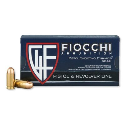 Fiocchi Pistol Shooting Dynamics .380 ACP Ammunition 95 Grain FMJ 960 fps