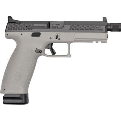 "CZ P-10 F Suppressor-Ready 9mm Luger Semi Auto Pistol 5.11"" Threaded Barrel 21 Rounds High Night Sights Two Tone Urban Gray Polymer Frame Black Finish"