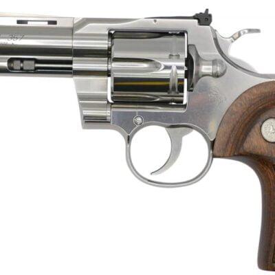 "Colt Manufacturing Python .357 Magnum 4.25"" Barrel 6-Shot Stainless Steel Revolver"