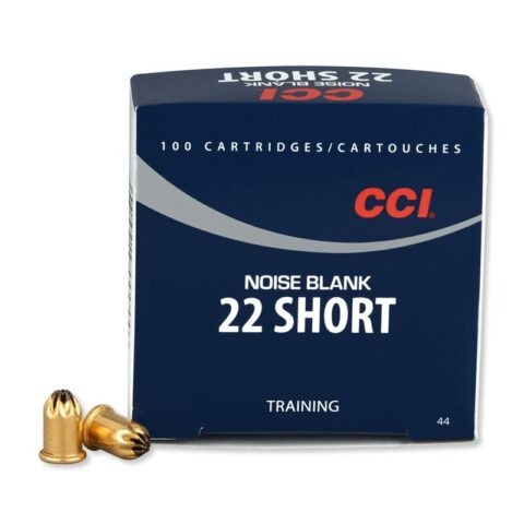 CCI .22 Short Noise Blank 100 Rounds Crimped Brass Case 0044