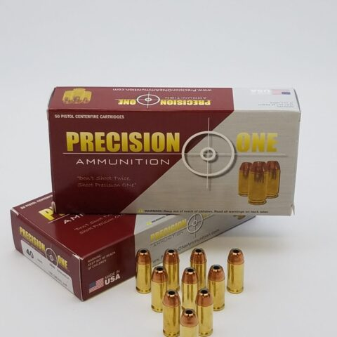 Precision One 40S&W 165GR 1170FPS JHP 50rd Defense Rounds