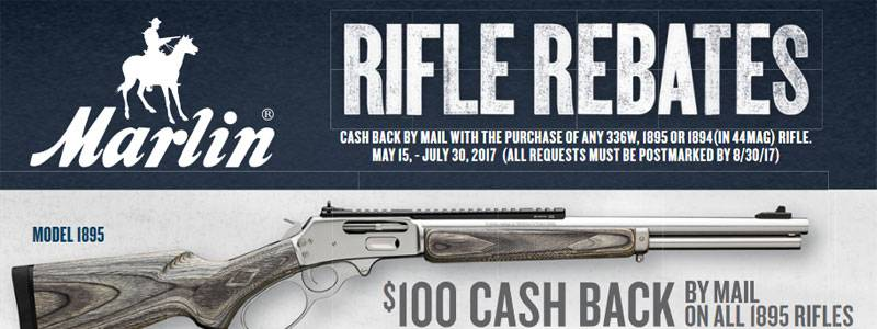 Marlin Rifle Rebates $100 Cash Back